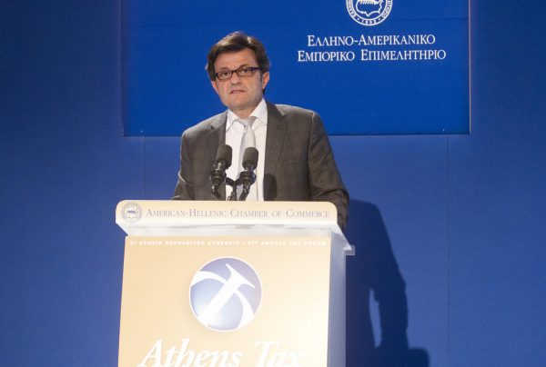 I. Stavropoulos at the 9th Athens Tax Forum, organized by the American-Hellenic Chamber of Commerce, April 2013