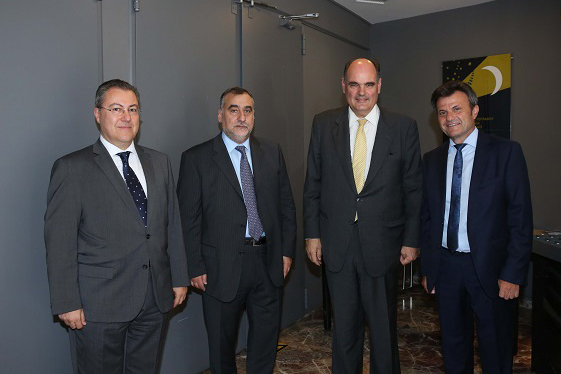 "C. Karagounis, E. Saitis, Th. Fortsakis and I. Stavropoulos at the conference on ""Fair Taxation of Businesses: Streamlining of the Tax System"", organized by the French-Hellenic Chamber of Commerce & Industry, June 2017"